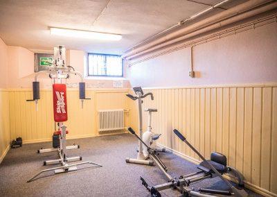 Styrketräning. Vandrarhem Skövde - Tibro i Skaraborg.