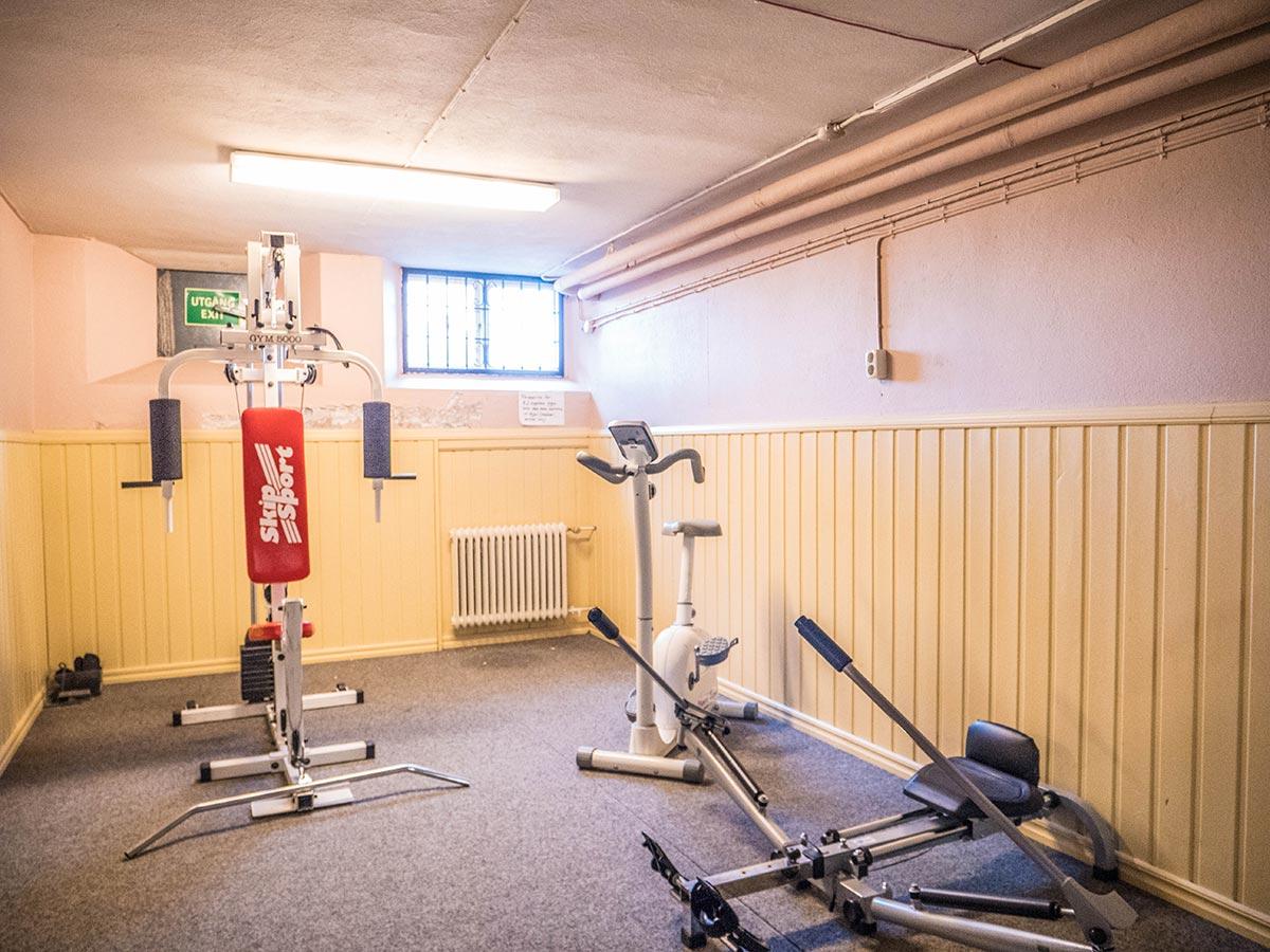 Gym - Vandrarhemmet Tärnan Tibro SkövdeVandrarhem Skövde - Tibro i Skaraborg.