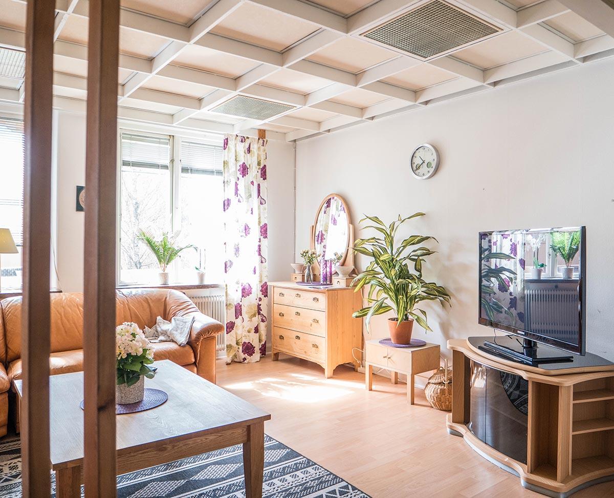 TV-rum - Vandrarhem Tärnan Tibro Skövde